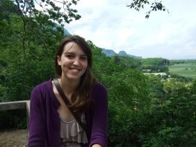 Tina at the Fish Caves in Pongngam, Chiang Rai Province