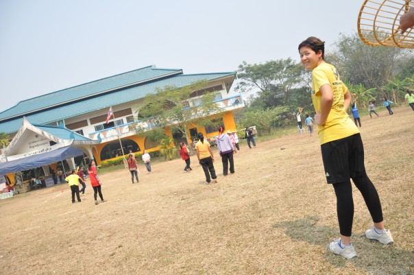 Hannah Smith enjoying sports outside of DEPDC Mae Sai