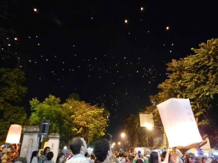 Loy Krathong celebration in Chiang Mai
