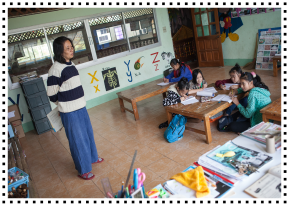 Alinda Suya Photo_Teaching in HDS Classroom_for Newsletter and Blog Post