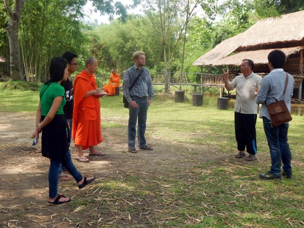 Director Teerawat Pitakpraisri of 'Naam Kham Valley Development Foundation' giving us a tour around the foundation's model farm.